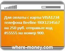 информация платежа
