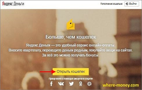 Создать Яндекс Кошелек