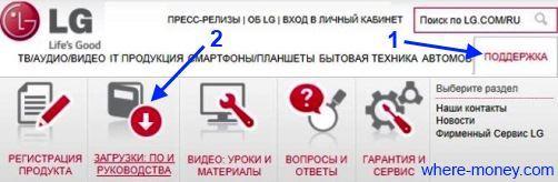 Сайт LG
