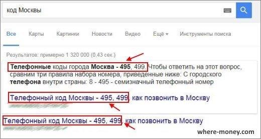 Телефонные коды города Москва 495 и 499