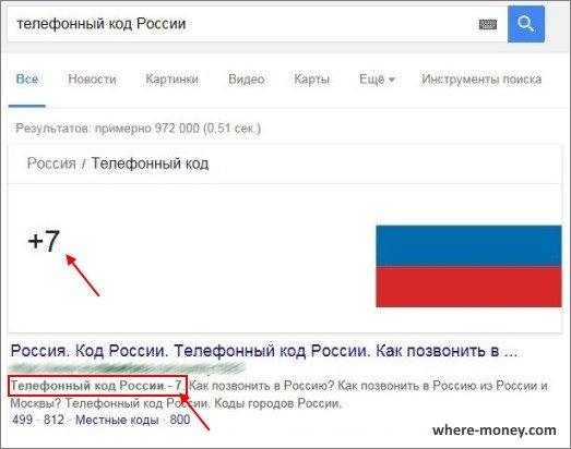 Телефонный код России 7