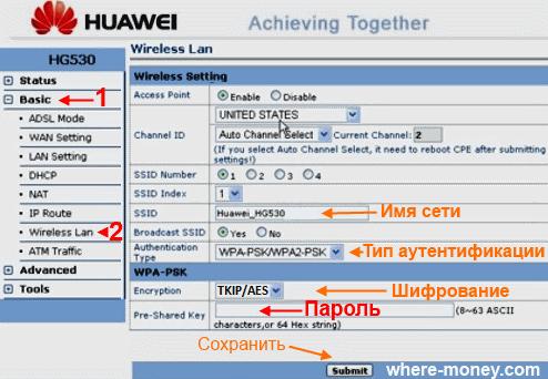 Huawei HG 530