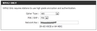 пароль от сети wi-fi в dlink dir 300