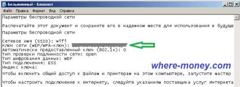 пароль от wifi