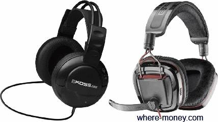 Koss UR20 и Plantronics GameCom 780