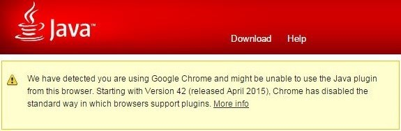 java не работает в google chrome