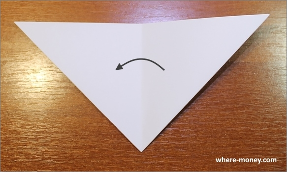 Сложите треугольник пополам