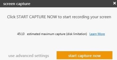 start capture now